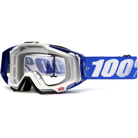 100% Racecraft Anti Fog Clear Goggles, cobalt blue